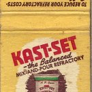 Kast-Set Smith Sharpe Company Minneapolis Minn. Matchbook Cover