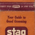 Stag-Toiletries For Men Matchbook Cover