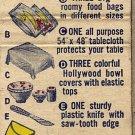 11 Piece Colorful Plastic Housewares Set Matchbook Cover