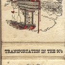 Transportation In The 90's River Steamboat and Ferryboat Matchbook Cover