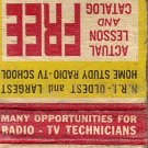 Train At Home For Radio-Television Matchbook Cover