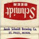 Schmidt Beer Matchbook Cover