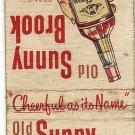 Old Sunny Brook Matchbook Cover