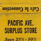 Pacific Ave. Surplus Store Willmar, Minn. Matchbook Cover