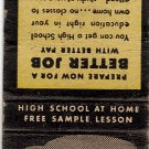 High School Education At Home Matchbook Cover