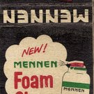 Mennen Foam Shave Matchbook Cover