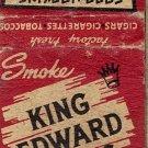 King Edward Cigars Matchbook Cover