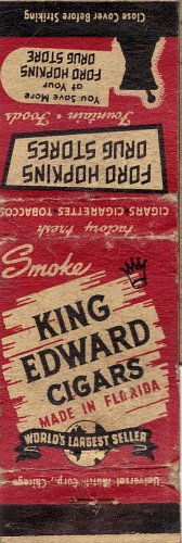 King Edward Cigars Matchbook Cover