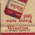 Winston Filter Cigarettes Matchbook Cover