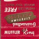 Muffler King  Evans Milwaukee's First Original Muffler Specialist Matchbook Cover
