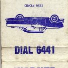 Warner Motors Inc. Wessington Springs, SD Matchbook Cover