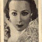 Vintage Golden Grain Tobacco Card Dolores Del Rio
