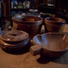 Lot of Four Wooden Bowls