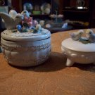 Two Porcelain Lidded Boxes