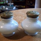 Vintage Milk Glass Salt and Pepper Shakers