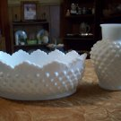 Lot of Two Pieces of Milk Glass