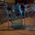 Lot of Three Vintage Fruit Jars
