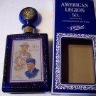 Vintage Cobalt Blue American Legion 50th Anniversary Glass Decanter