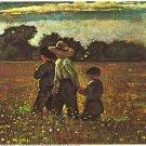 In The Mowing Lithograph by Winslow Homer