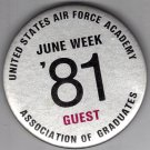 United States Air Force Academy 81 Button