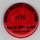 1968 South Dakota State Fair Admissions Button