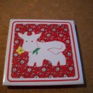Cow With Flower Tile