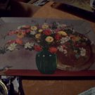 Vintage Hasko Wood Covered Lithographed Tray