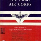 Vintage Sheet Music The Army Air Corps