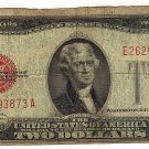 1928G Red Seal $2 Note