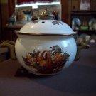 Lidded Metal Potpourri Pot With Handles
