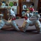 Pair of Vintage Ucagco Porcelain Poodles