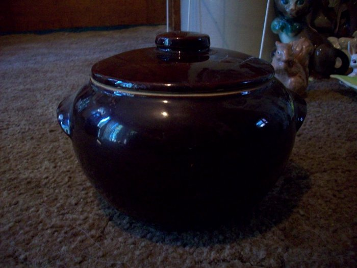Vintage Stone Ware Lidded Pot