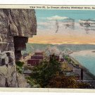Vintage Postcard  View from Mt. La Grange, showing Mississippi River, Red Wing, Minn.