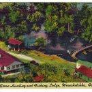 Vintage Postcard  Lake Grove Hunting and Fishing Lodge, Wewahitchka, Florida