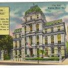 Vintage Postcard City Hall Boston, Mass.
