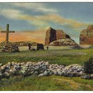Vintage Postcard The Pecos Mission Ruins on the Santa Fe Trail, New Mexico