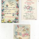 Lot of Three Vintage Birth Announcements 1946 and 1955