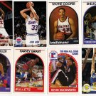 Lot of 11 NBA Hoops Cards