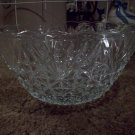 Large Vintage Clear Glass Bowl