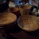 Lot of 6 Wicker Baskets