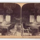 Antique Stereoscope Card   King Oscar's Council Chamber,  Royal Palace Stockholm, Sweden