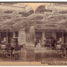 Antique Stereoscope Card  Grand Dining Hall, Frederiksborg Castle, Denmark