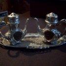 Vintage Badlands Nat. Monument South Dakota Souvenir Salt and Pepper Shakers With Tray