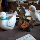 Lot of Four Porcelain and Ceramic Birds