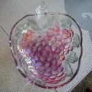 Glass Grapes Bowl
