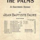 Vintage Sheet Music The Palms