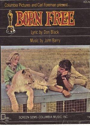 Vintage Sheet Music Born Free