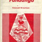 Vintage Sheet Music Fandango