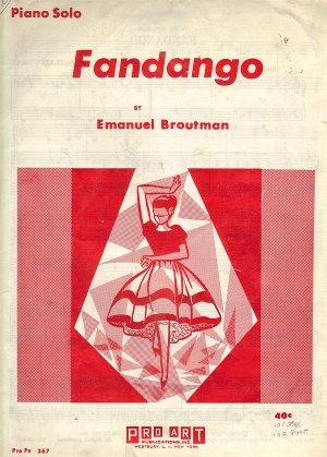 Vintage Sheet Music Fandango