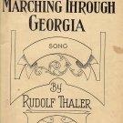 Vintage Sheet Music  Marching Through Georgia